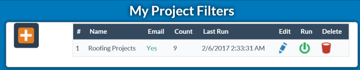 Project Filters